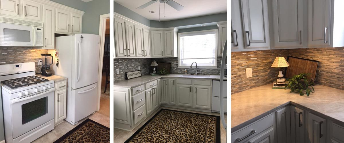 CUSTOM PAINTED CABINETS & KITCHEN